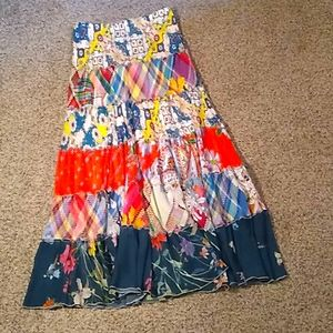 Johnny was multicolored multiprint maxi skirt